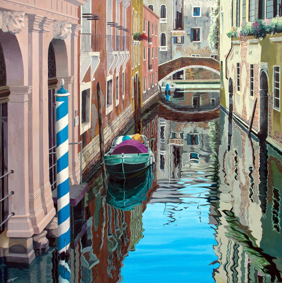 Sunny reflections, Venice